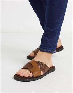 Светло коричневые кожаные сандалии Base london