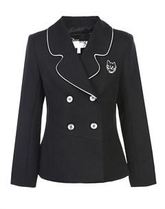 Черный приталенный пиджак детский Dior