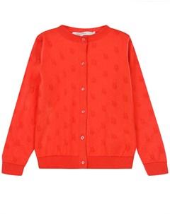 Красный кардиган с вышивкой детский Dior