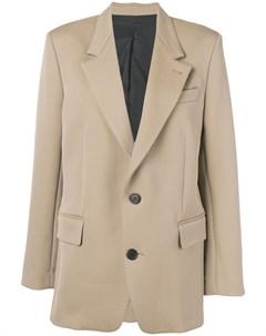 пиджак на двух пуговицах с подкладкой Ami paris
