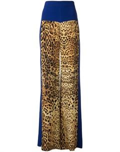 брюки с леопардовым принтом Cushnie