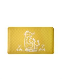 Антискользящий резиновый коврик для ванны желтый Roxy kids