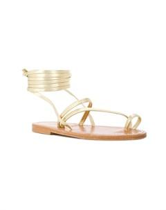 Летние сандалии на плоской подошве с ремешком на щиколотке K. jacques