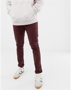 Узкие чиносы сливового цвета Co Nudie jeans