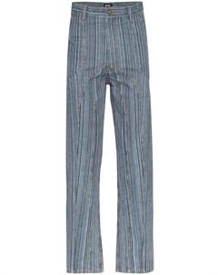 прямые джинсы в полоску Ahluwalia studio