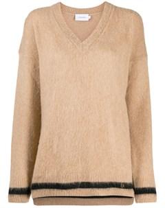 трикотажный свитер с V образным вырезом Calvin klein