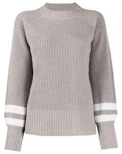 свитер в рубчик с полосками Eleventy