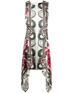 платье без рукавов со змеиным принтом John richmond