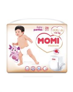 Premium Подгузники трусики XXL от 15 кг 26шт Momi
