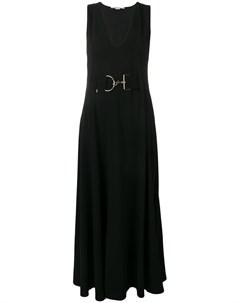 Платье макси с поясом Stella mccartney