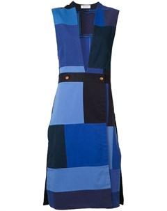 Лоскутное платье без рукавов Rodebjer