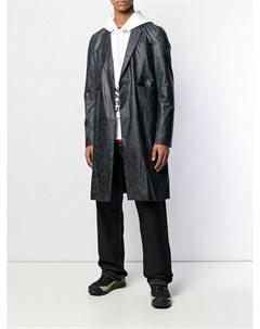 Однобортное пальто с логотипом Undercover