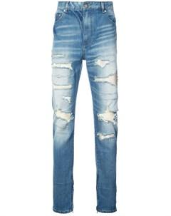 Прямые джинсы с прорехами God's masterful children