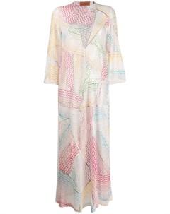 Пляжное платье с узором Missoni mare