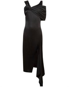 Асимметричное платье с открытыми плечами Monse