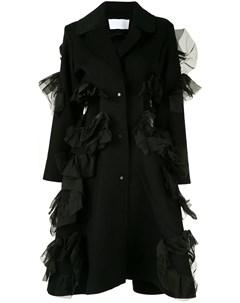 Пальто с оборками и вырезными деталями Roberts wood