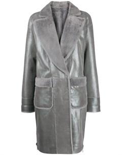 Пальто с эффектом металлик Lorena antoniazzi