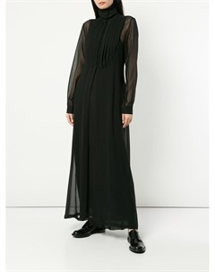 Платье с длинными рукавами и плиссировкой на груди Isabel benenato