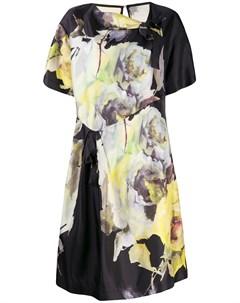 Платье трапеция с цветочным принтом Antonio marras