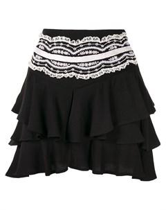 Ярусная юбка с кружевной вышивкой Wandering