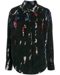 Рубашка на пуговицах с контрастным принтом Raquel allegra