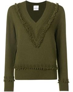 Пуловер с V образным вырезом и вышивкой Barrie