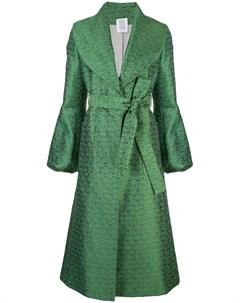 Пальто с поясом и вышивкой Rosie assoulin
