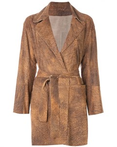 Пальто с запахом и поясом Sylvie schimmel
