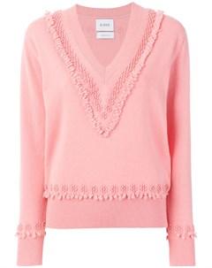 Текстурированный свитер с V образным вырезом Barrie
