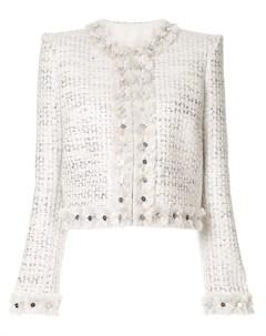 Твидовый пиджак с эффектом металлик Zuhair murad