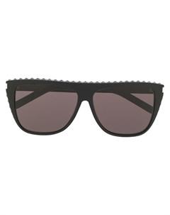 Затемненные солнцезащитные очки в квадратной оправе Saint laurent eyewear