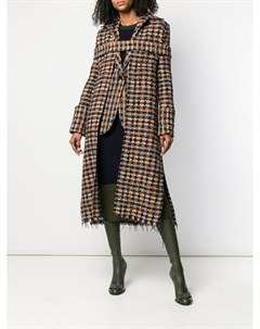 Длинное твидовое пальто Victoria beckham
