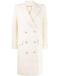 фактурное двубортное пальто Marni