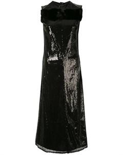 Платье миди с пайетками Yang li