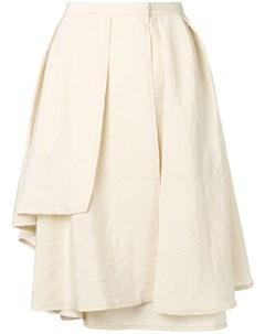 Драпированная юбка миди Lemaire