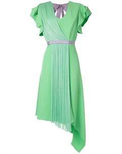 Платье асимметричного кроя со складками Delpozo