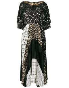 Платье с принтом и вставками Antonio marras