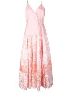 Платье миди из ткани дамаск с запахом Rosie assoulin