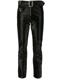 Укороченные бархатные брюки Yang li