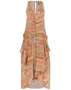 Платье Janice асимметричного кроя с узором пейсли By walid