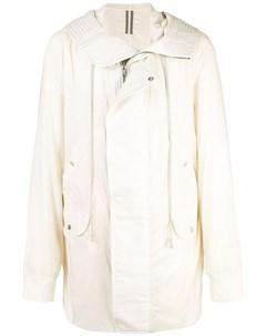 Пальто на молнии с капюшоном Rick owens drkshdw