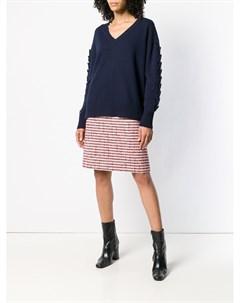 Кашемировый пуловер Troisieme Dimension с V образным вырезом Barrie