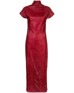 Бархатное платье с драпировкой Paula knorr