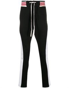Спортивные брюки Borg с отделкой в полоску Greg lauren