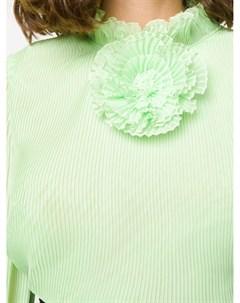 Блузка с плиссировкой и цветком Marco de vincenzo