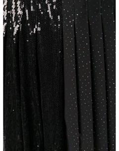 Платье с контрастной вставкой и завышенной талией Marco de vincenzo