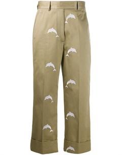 брюки чинос с вышивкой Thom browne