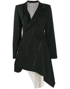 Пальто с асимметричным краем Monse
