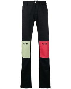 Прямые джинсы с нашивкой Raf simons