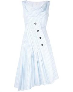 Платье асимметричного кроя в полоску Delpozo